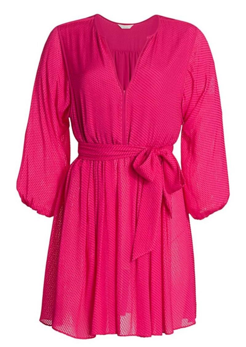 Joie Favia Tie Waist Mini Dress