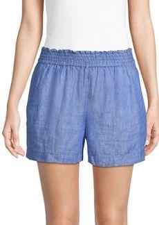 Joie Fenna Linen Flounce Shorts
