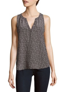 Joie Fifi Printed High-Low Silk Top