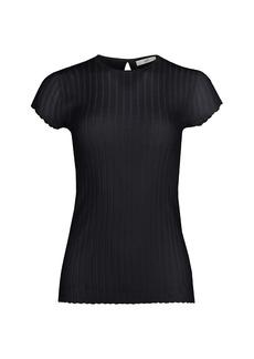 Joie Filana Rib-Knit T-Shirt