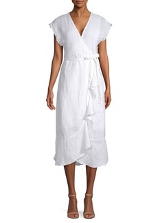 Joie Filma Linen Crossover Dress