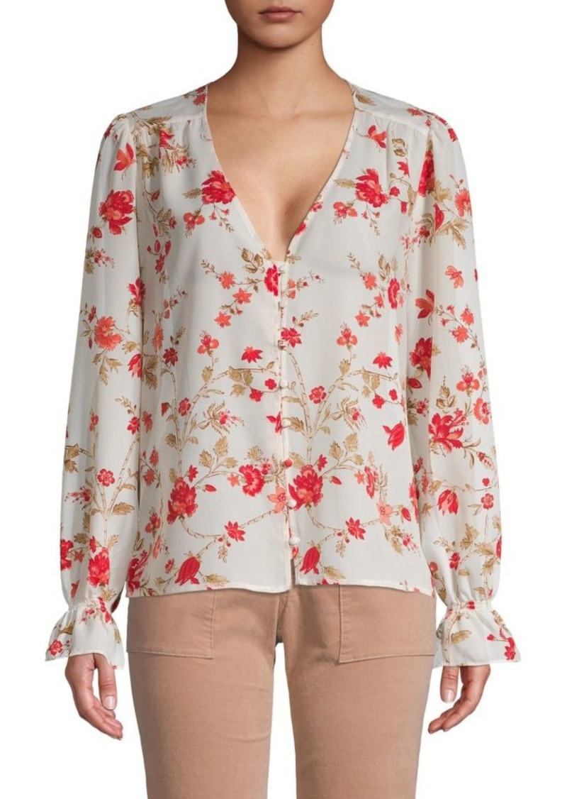 Joie Floral Button Front Blouse