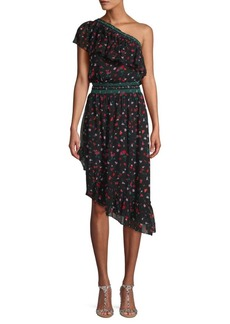 Joie Floral-Print Asymmetrical Sheath Dress