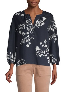 Joie Floral-Print Long-Sleeve Top