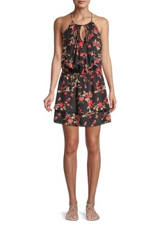 Joie Floral-Print Mini Dress