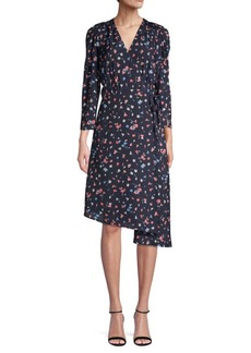 Joie Floral-Print Wrap Dress