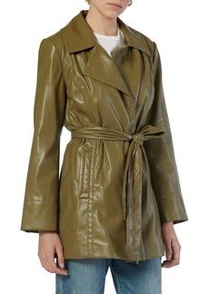 Joie Francine Tie Faux Leather Jacket