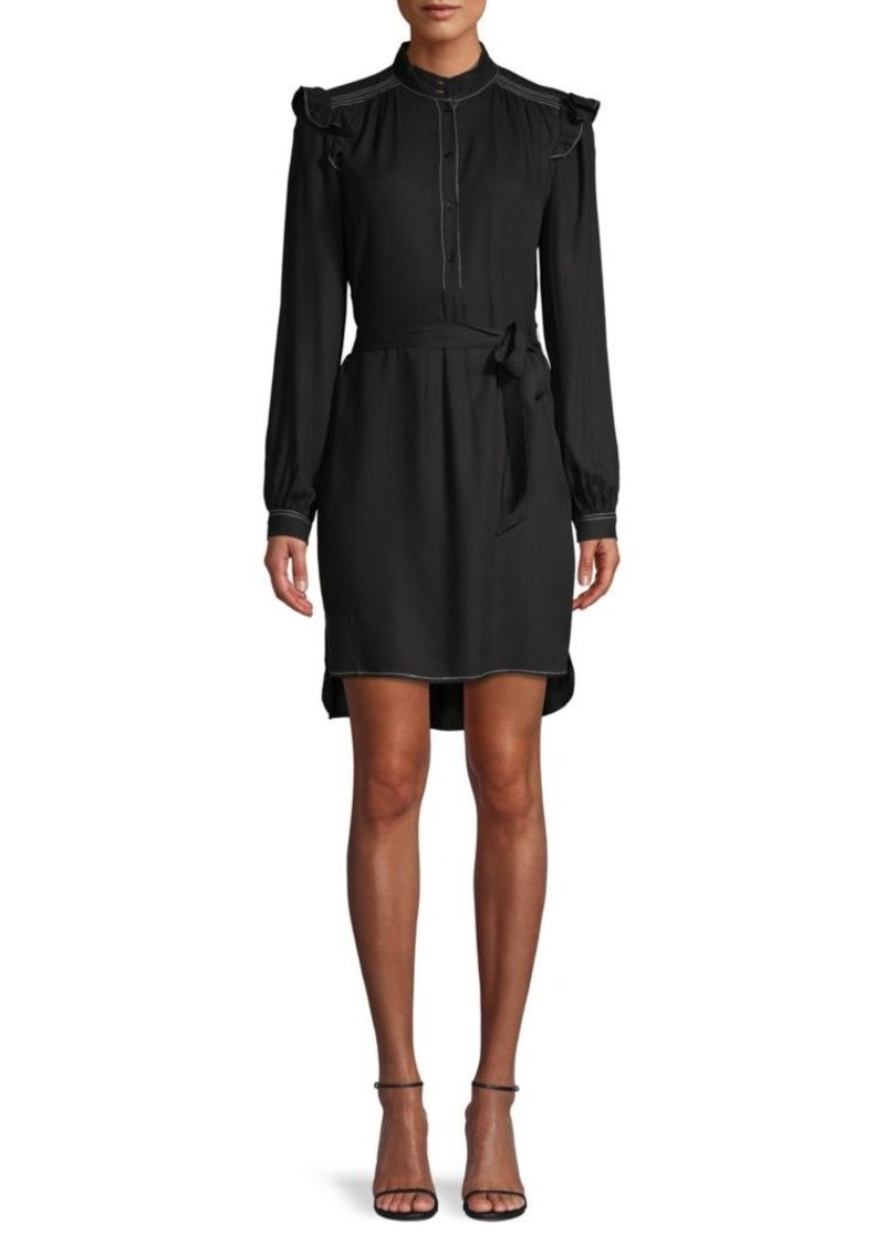 Joie Gadella Tie-Belt Shirtdress