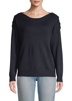 Joie Gadelle Button-Shoulder Sweater