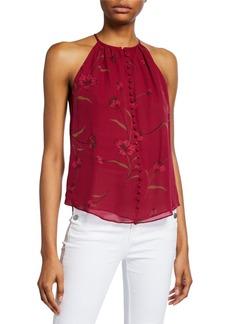 Joie Galletha B Floral Silk Top