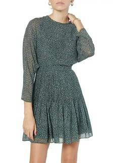 Joie Garonne Batwing-Sleeve Printed Silk Dress