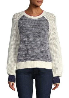 Joie Golani Colorblock Cotton Knit Sweater