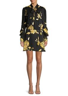Joie Gyan Tie Neck Mini Dress