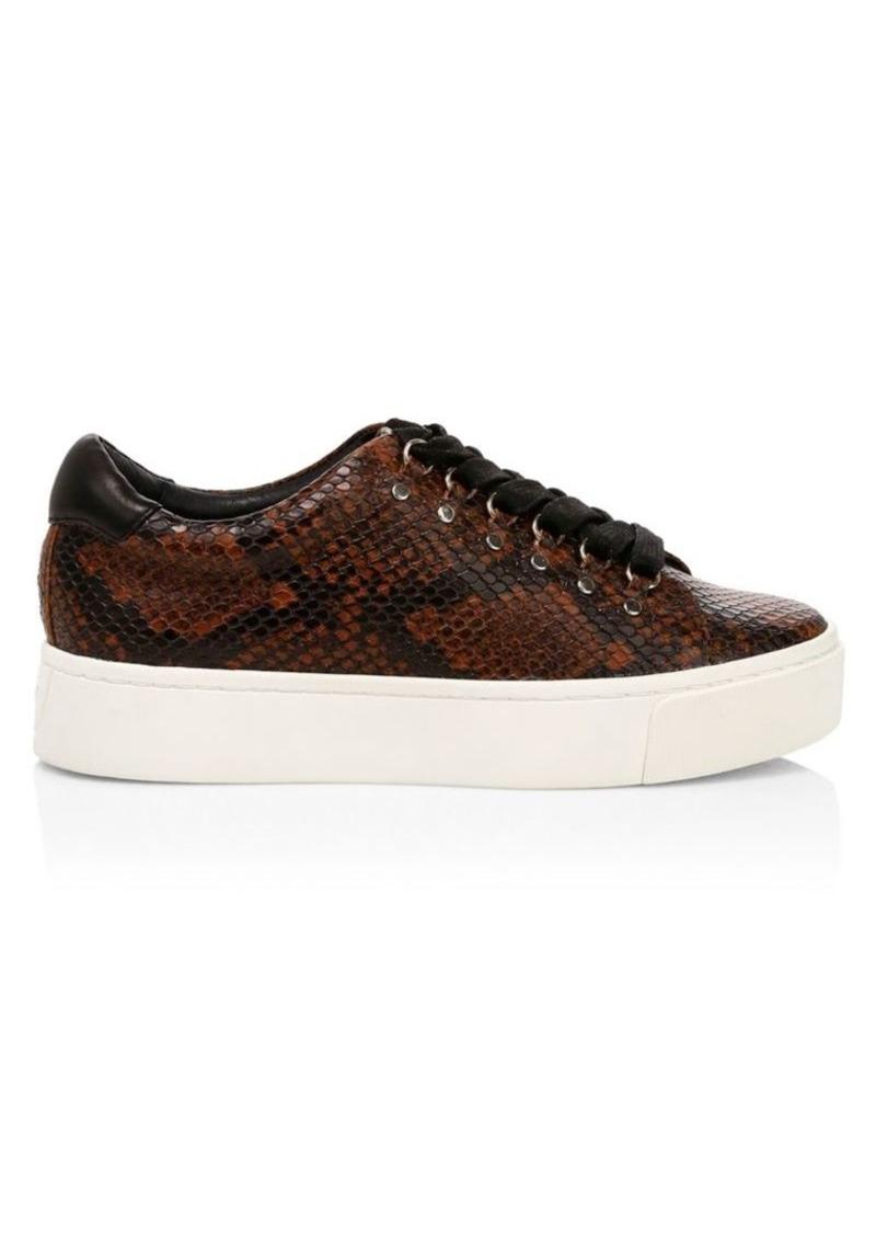 Joie Handan Snakeskin-Embossed Platform Sneakers