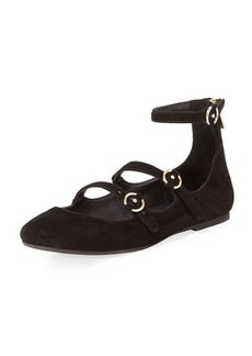 Joie Helene Strappy Suede Ballet Flats