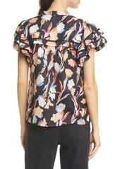Joie Huxlee Print Cotton & Silk Top