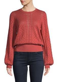 Joie Jaeda Open-Knit Blouson Sweater
