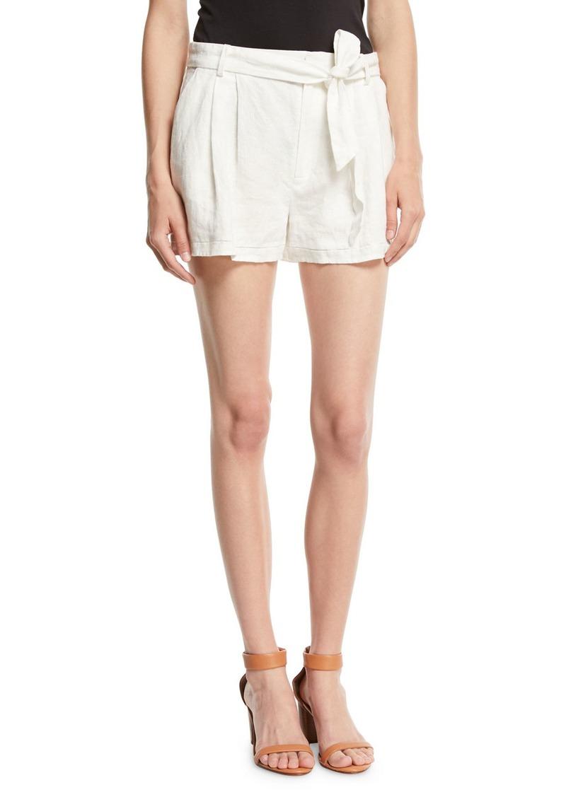 Joie Jaklynn Pleated Linen Shorts
