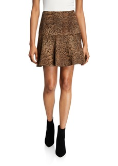 Joie Jamey Snake-Print Mini Skirt
