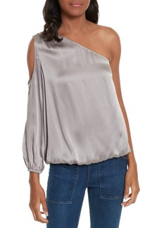 Joie Abatha One-Shoulder Silk Top