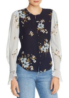 Joie Abboid Floral-Silk Top