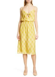 Joie Abiah Front Tie Silk Dress