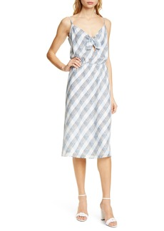 Joie Abiah Front Tie Silk Dress