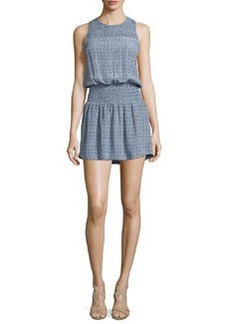 Joie Kiernan Tile-Print Silk Dress
