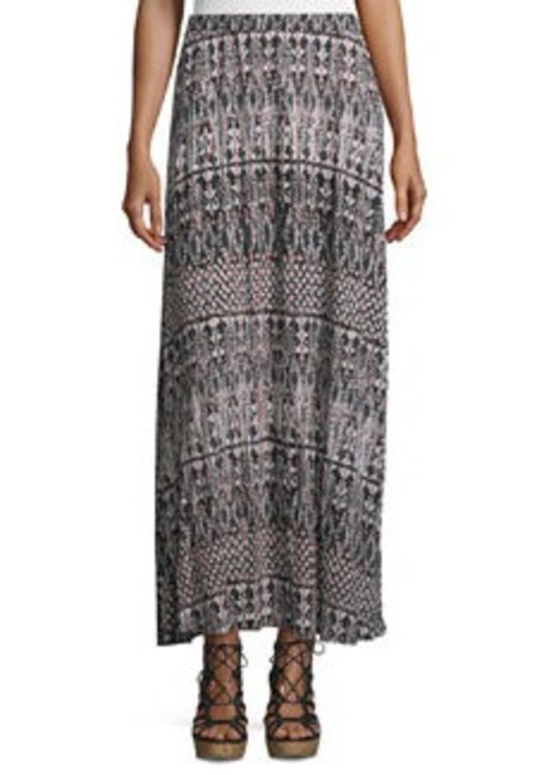 Joie Gamille Casablanca Ikat-Printed Jersey Skirt