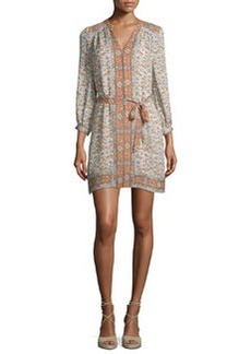 Joie Teedra Printed Tie-Waist Dress