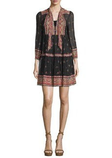 Joie Alpina Paisley-Print Silk Georgette Dress