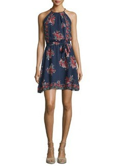 Joie Valletta Floral-Print Silk Georgette Dress