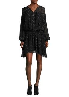 Academia Printed Drop-Waist Dress