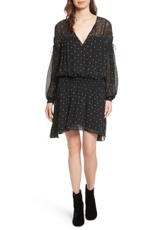 Joie Academia Tie-Sleeve Silk Minidress
