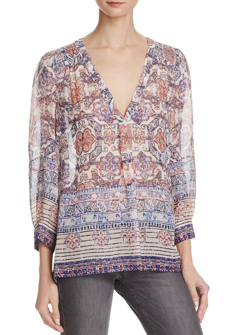 Joie Joie Aceline Silk Print Blouse Casual Shirts