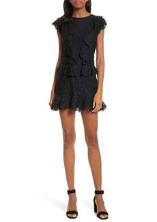Joie Acostas Ruffle & Lace Dress