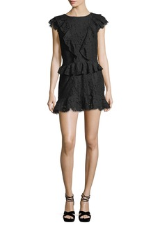 Joie Acostas Ruffled Lace Mini Dress