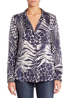 Joie Adalyn Animal Printed Blouse