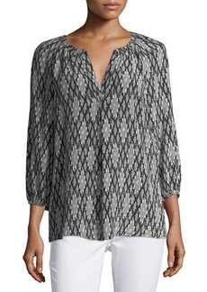 Joie Addie Graphic-Print Silk Top