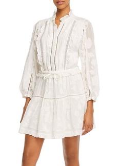 Joie Adel B Floral Burnout Ruffled Mini Dress