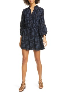 Joie Adel Floral Print Long Sleeve Minidress