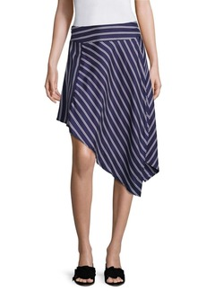 Joie Adelpha Double Stripe Silk Midi Skirt