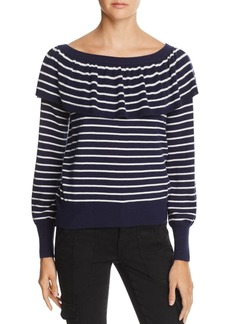Joie Adinam Ruffled Striped Sweater - 100% Exclusive