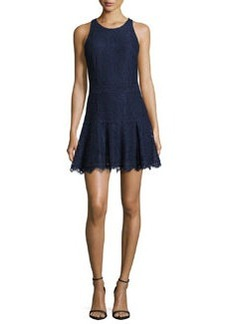 Joie Adisa Sleeveless Lace Fit & Flare Dress