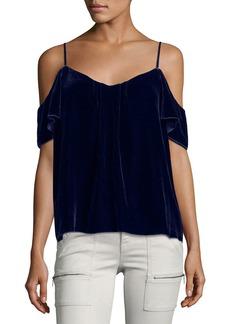 Joie Adorlee E Cold-Shoulder Velvet Top
