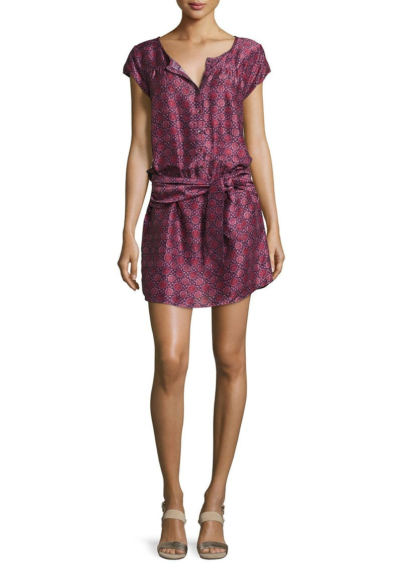 Joie Africa Button-Front Belted Mini Dress