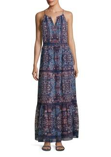 Joie Agnece Tiered Silk Maxi Dress