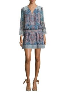 Joie Aidee Tile-Printed Silk Dress