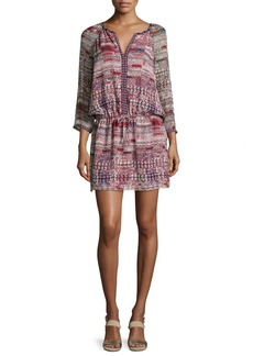 Joie Aili Blouson Mini Silk Dress