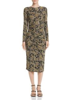 Joie Aja Long-Sleeve Paisley Midi Dress